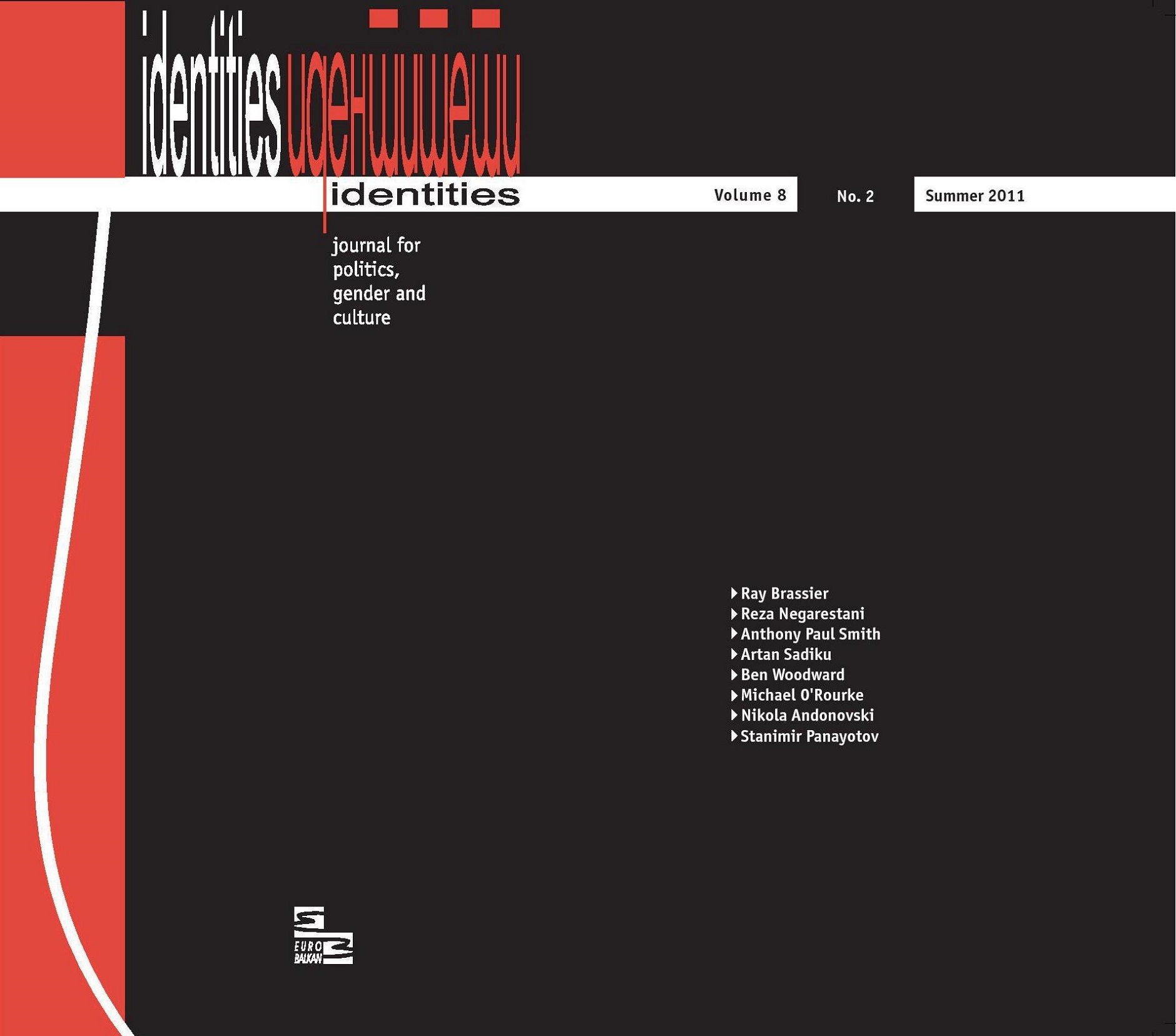 View Vol. 8 No. 2 (2011): Vol. 8, No. 2 (Summer 2011) - Issue No. 19   Topic: Heretical Realisms, edited by Katerina Kolozova and Stanimir Panayotov